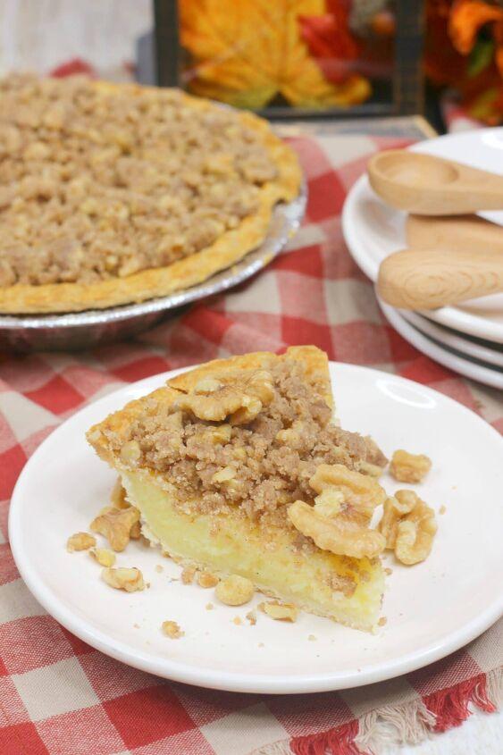 old fashioned walnut streusel buttermilk pie