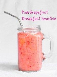 pink grapefruit smoothie refresh detox and build immunity
