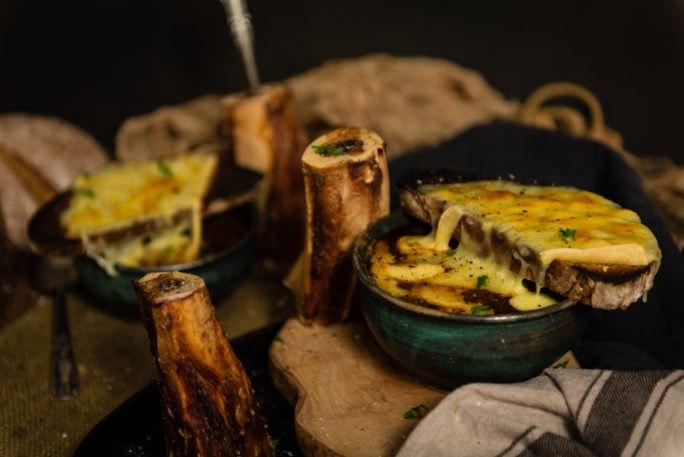 bone marrow french onion soup