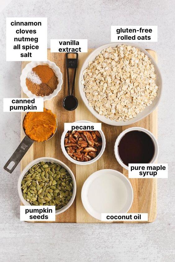 pumpkin granola gluten free vegan