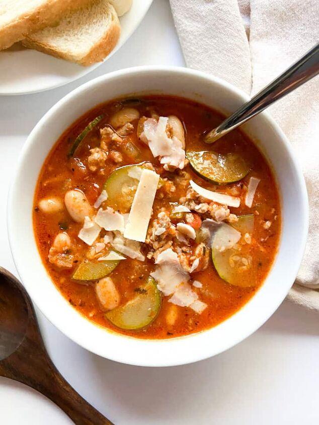 easy italian ground turkey soup