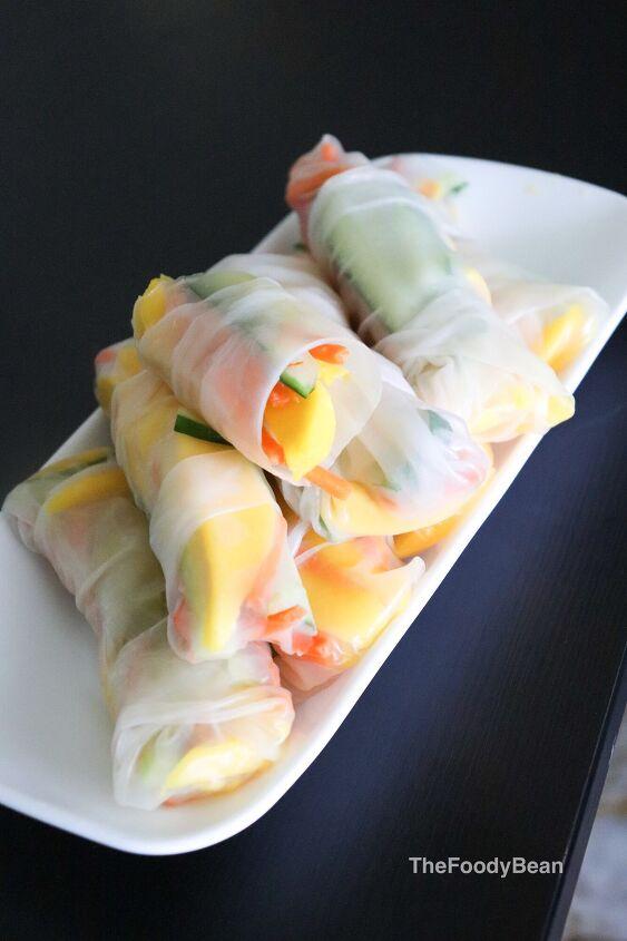 vegetarian rice paper rolls vietnamese rolls