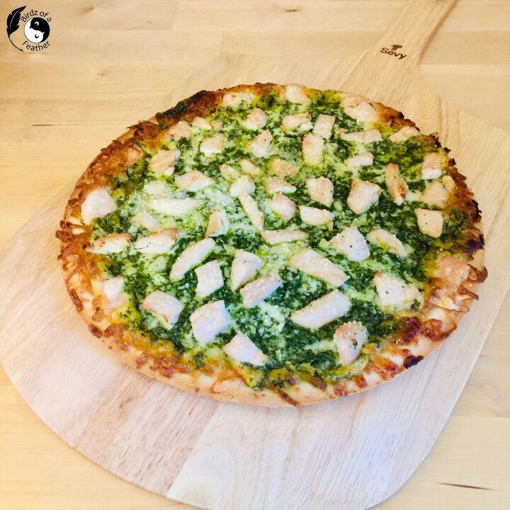 chimichurri chicken pizza