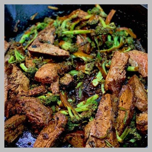vic s tricks to sherry steak w charred broccoli scallion sauce