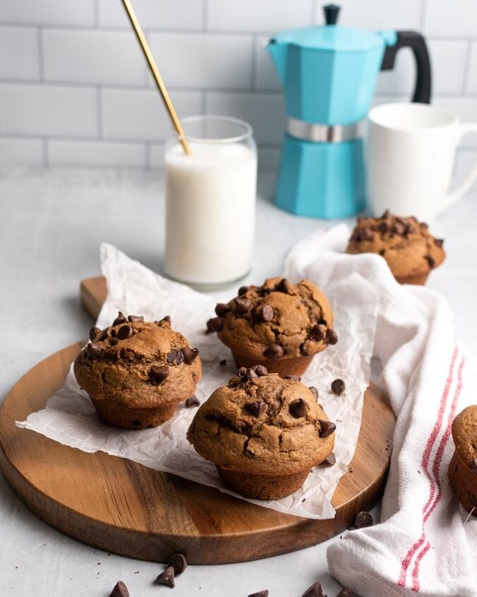 bakery style chocolate chip coffee muffins