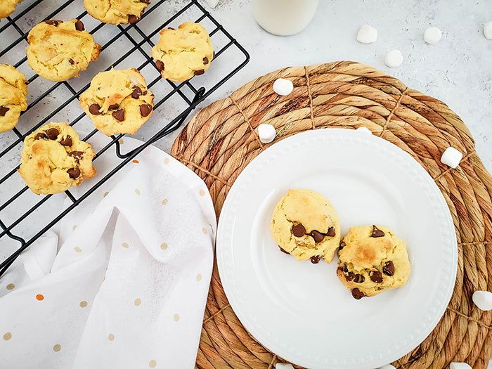 mores cookies with cake mix