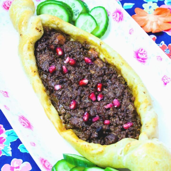 turkish pide how to make the best turkish pizza with lamb pomegr