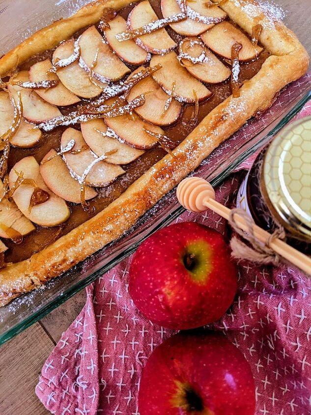 apple and honey tart