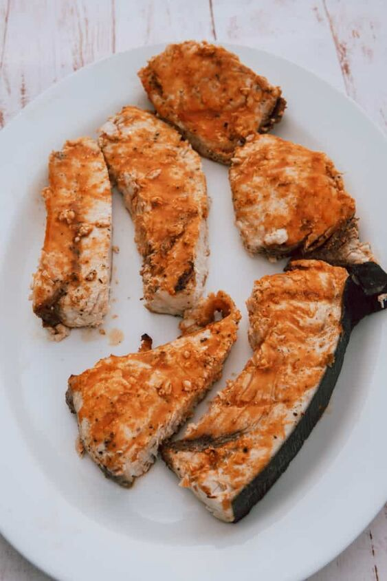 spicy lemon swordfish on the grill
