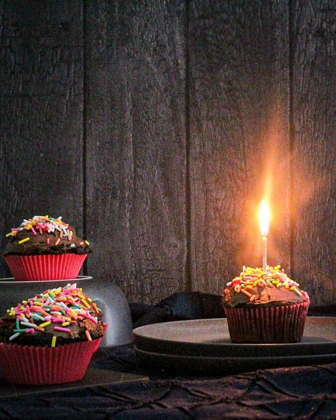 chocolate and espresso celebratory cupcakes