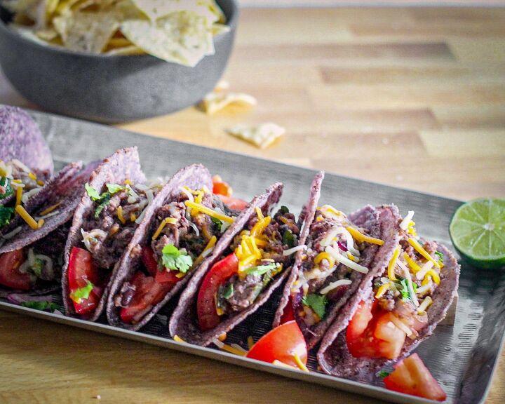 poblano and black bean tacos