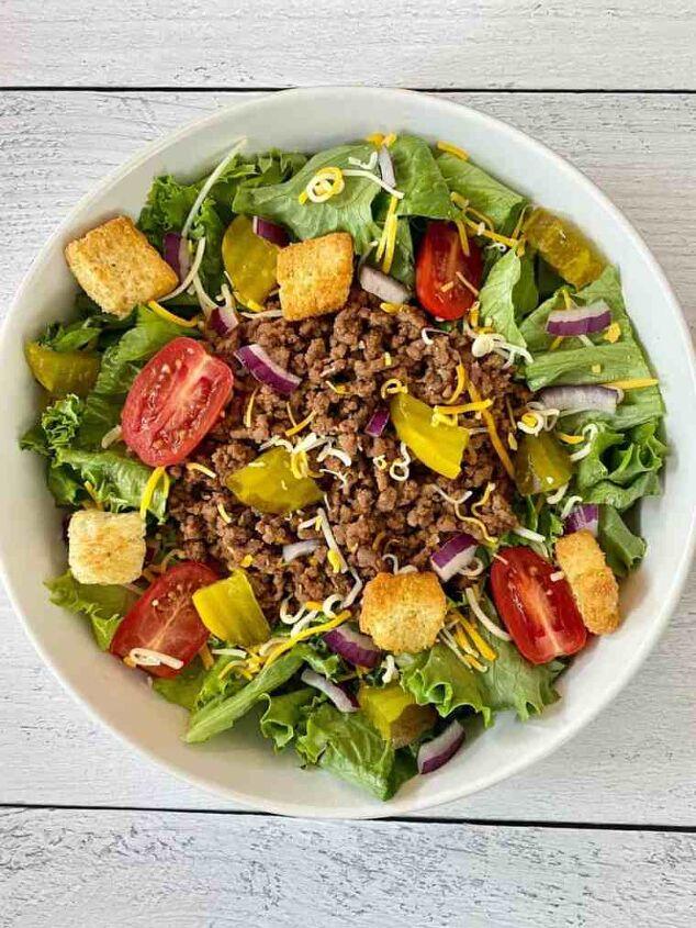 low carb big mac salad happy honey kitchen