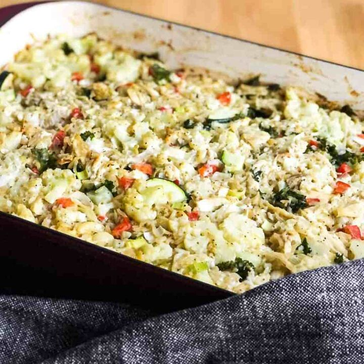 chicken rice and vegetable casserole