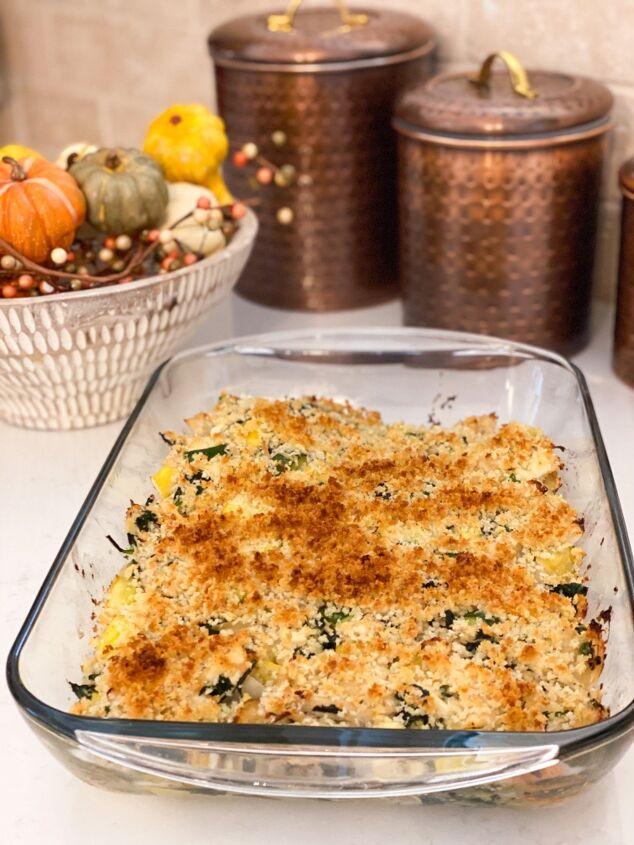 chicken spinach and squash casserole