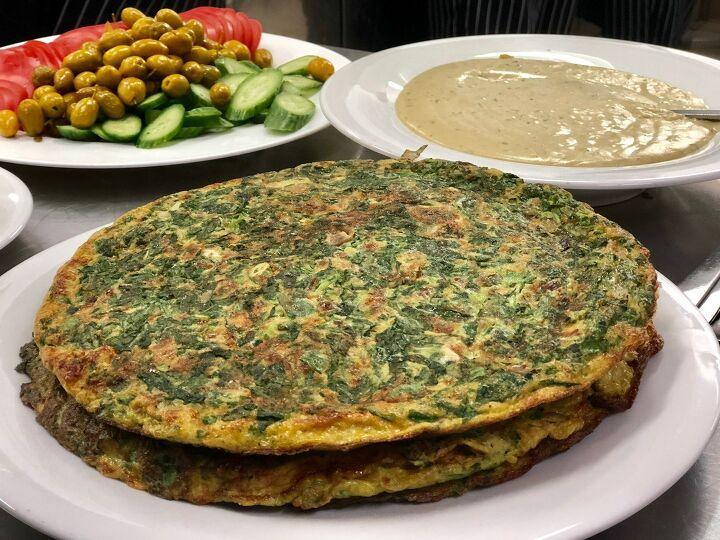 baked vegetarian ejje lebanese omelets