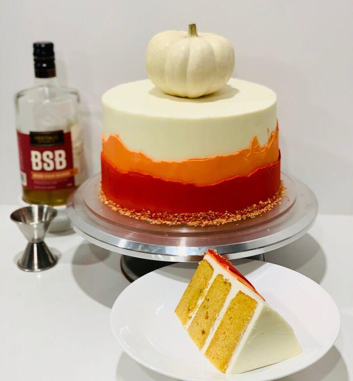 pumpkin bourbon cake