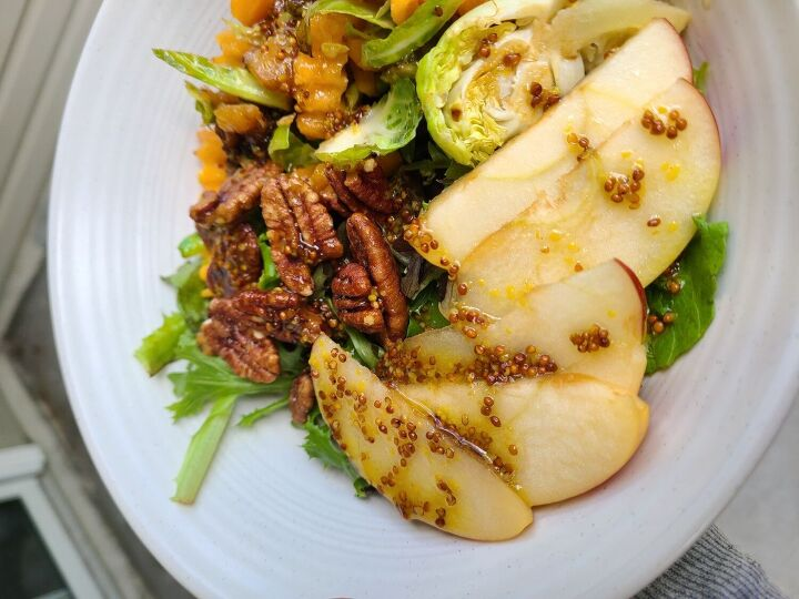 the ultimate fall salad with maple dijon dressing