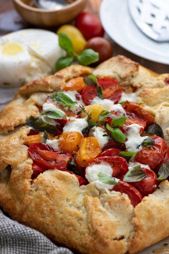 cherry tomato crostata galette