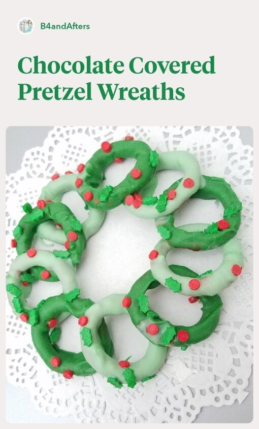 wreath chocolate covered pretzels