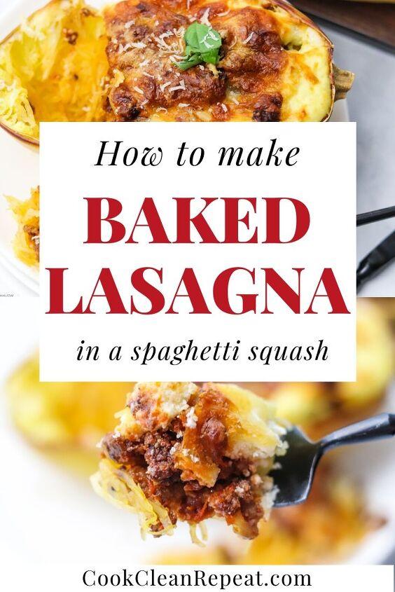 easy baked spaghetti squash lasagna