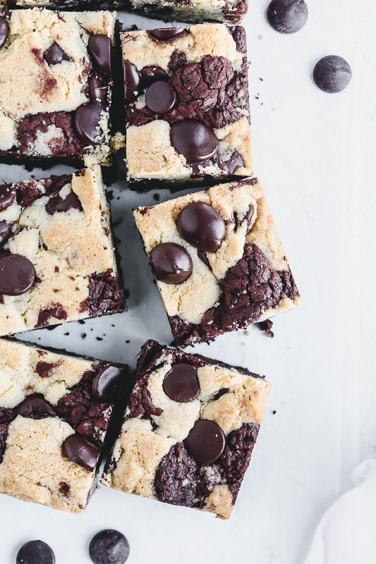 chewy chocolate chip brookies
