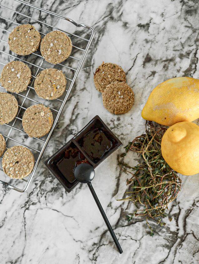 thyme lemon and sea salt oatcakes