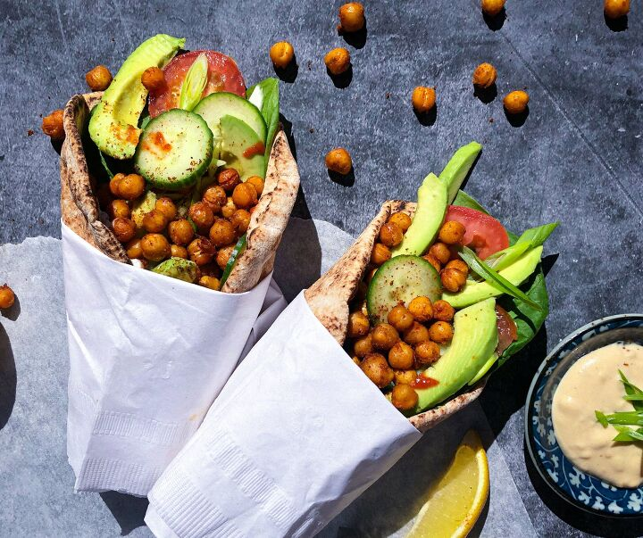 spicy chickpea pitta