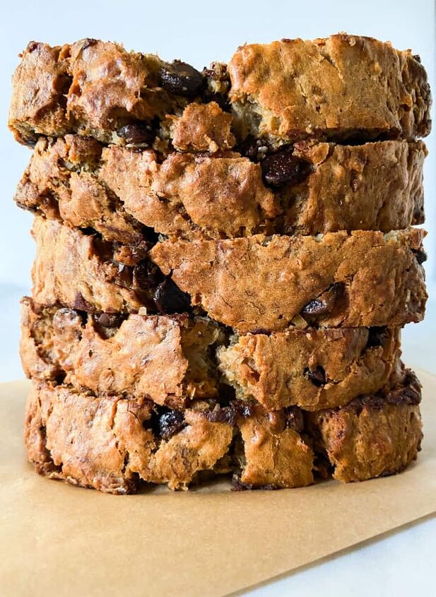 coconut banana bread with chocolate chips