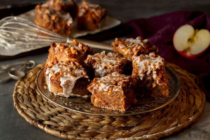 gluten free vegan spiced apple coffee cake