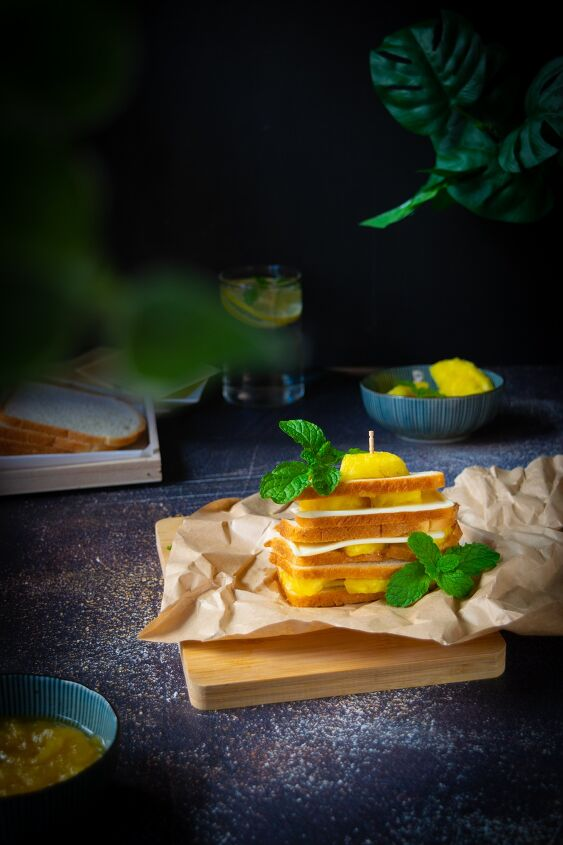 pineapple jam and cheese sandwich