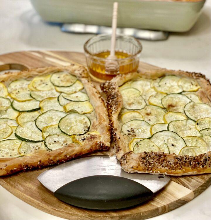 zucchini boursin galette