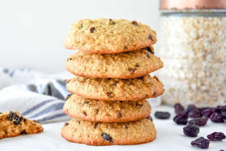 healthy oat raisin cookies