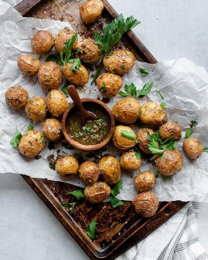 roasted yukon potatoes with caper vinaigrette